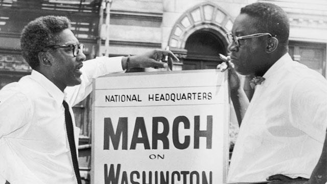 Bayard Rustin at March on Washington